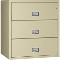 Lateral 38 inch 3-Drawer Fireproof File Cabinet
