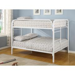 Coaster Fordham White Full-Over-Full Bunk Bed 57x78.5x59 Inch