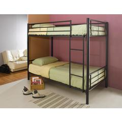 Coaster Denley Black Metal Twin-Over-Twin Bunk Bed 79x43x65.75 Inch