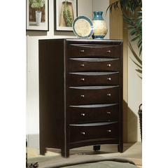 Coaster Phoenix Cotemporary Six-Drawer Chest 35.75x16.75x50.5 Inch
