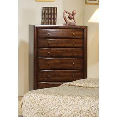 Coaster Hillary Warm Brown Six-Drawer Chest 35.75x16.75x50.5 Inch