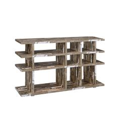 Coaster Rustic Salvaged Cabin Low-Profile Bookcase 63x15.25x36.75 Inch