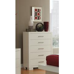 Coaster Jessica Contemporary Five-Drawer Chest 36x17x49.25 Inch