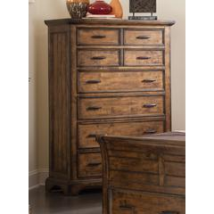 Coaster Elk Grove Rustic Eight-Drawer Chest 44x19x62 Inch
