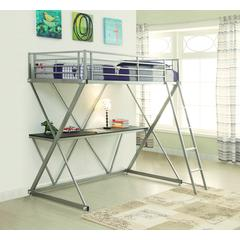 Coaster Twin Workstation Loft Bed 77x57.5x71 Inch