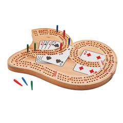 """Mainstreet Classics Wooden """"29"""" Cribbage Board"""