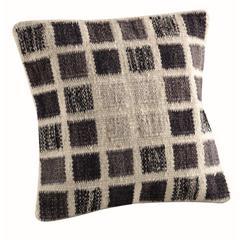 "Cushions Dominico White Grey - 18""x18"""