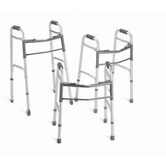 "Youth Two-Button Folding Walkers with 5"" Wheels, 4/CS"