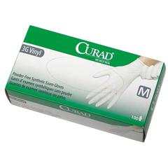 CURAD Powder-Free Latex-Free 3G Vinyl Exam Gloves,X-Small, 1000/CS