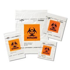 Zip-Style Biohazard Specimen Bags,Clear, 1000/CS