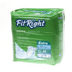 FitRight Extra Briefs,Large, 20/BG