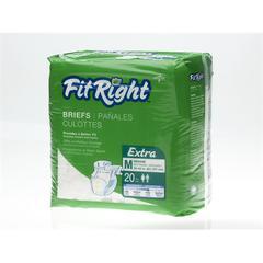 FitRight Extra Briefs,Medium, 80/CS