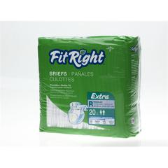 FitRight Extra Briefs,Regular, 80/CS