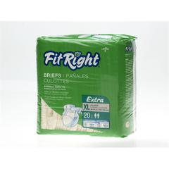 FitRight Extra Briefs,X-Large, 80/CS