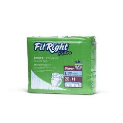FitRight Restore Briefs,Large, 80/CS