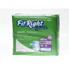 FitRight Stretch Ultra Brief,Medium/Regular, 80/CS