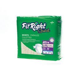 FitRight Stretch Ultra Brief,Large/X-Large, 80/CS