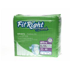 FitRight Stretch Ultra Brief,X-Large/XX-Large, 80/CS