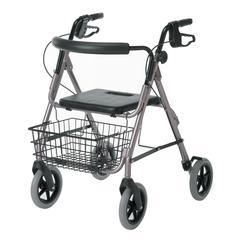 "Guardian Deluxe Rollators with 8"" Wheels,Red, 1/CS"
