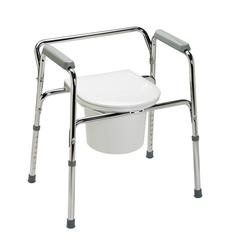 3-In-1 Steel Commode, 1/EA