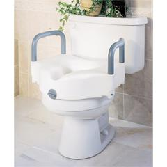 Locking Raised Toilet Seats with Arms, 1/EA