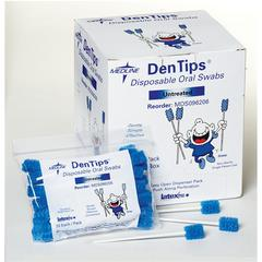 DenTips Oral Swabsticks,Blue, 250/BX