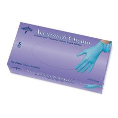 Accutouch Chemo Nitrile Exam Gloves,Blue,Small, 100/BX