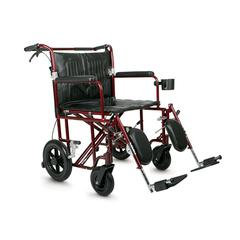 Bariatric Transport Chair,Red, 1/CS
