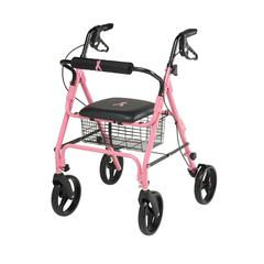 "Rollators with 8"" Wheels,Pink, 1/CS"