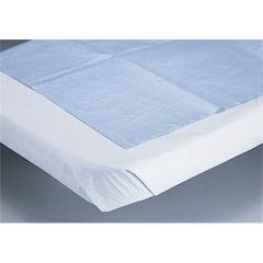 Disposable Tissue/Poly Flat Bed Sheets,White, 25/CS