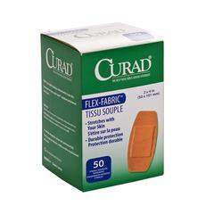 CURAD Fabric Adhesive Bandages,Natural, 50/BX