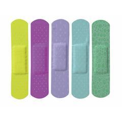 CURAD Neon Adhesive Bandages,Natural, 50/BX