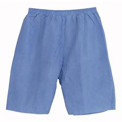 Disposable Exam Shorts,Blue,Large, 30/CS