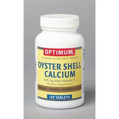 Oyster Shell Calcium with Vitamin D Tablets, 1/BT