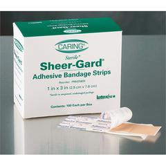 Caring Plastic Adhesive Bandages,Natural, 100/BX