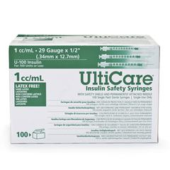 Insulin Safety Syringes By Ultimed Inc, 100/BX