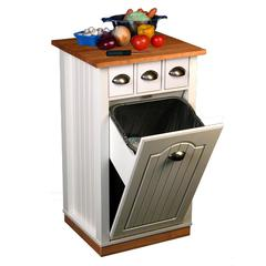 Butcher Block Bin w/pantry, 20 x 20 x 35, White