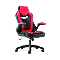 basyx by HON Racing Gaming Computer Chair- Flip-Up Arms, Black and Red
