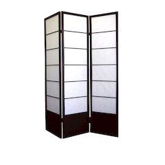 Shogun 3-Panel Room Divider - Espresso