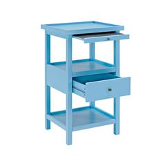 Palmer Ocean Blue Table with Shelf