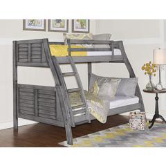 Easton Gray Bunk Bed-ships in 4 cartons