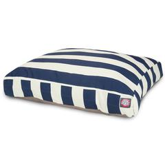 Majestic Navy Blue Vertical Stripe Large Rectangle Pet Bed