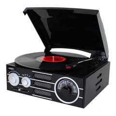 3-Speed Stereo Wood Cabinet Turntable