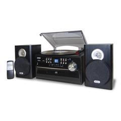 Jensen 3-Speed Turntable with CD, Radio, Remote