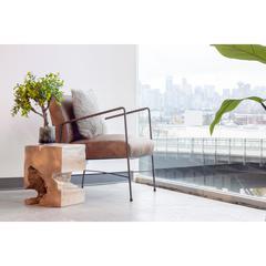 Dagwood Leather Arm Chair Brown