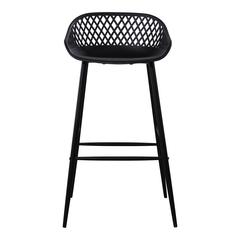 Piazza Outdoor Bar Stool Black-Set Of Two
