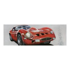 Classic Sportscar Red Wall Decor