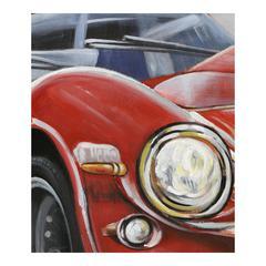 Classic Sportscar Red Wall Decor