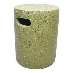 Pillar Cement Stool Green