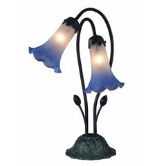 "Springdale 17.5""H Duchess Lily 2-Light Hand Blown Art Glass Accent Lamp"
